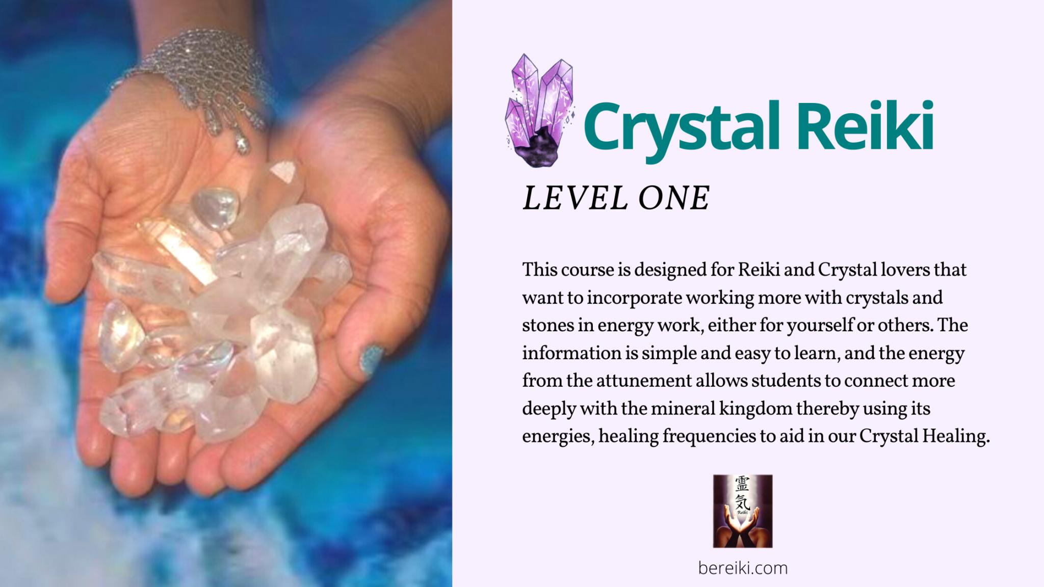 crystal reiki online class